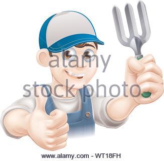 Happy Thumbs Up Gardener - Stock Photo