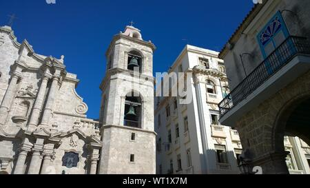 Low Angle View Of Plaza De La Catedral And Buildings In City - Stock Photo