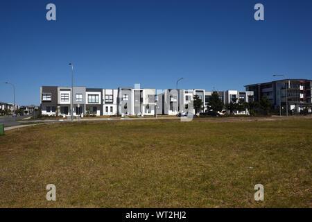 New Housing estate at Mango Hill, Queensland, Australia - Stock Photo
