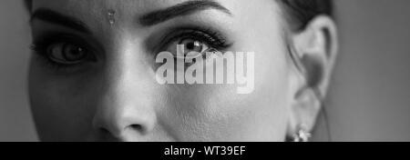 Close-up Portrait Of Woman - Stock Photo