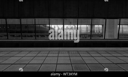 View Of Passengers At Subway Station Platform - Stock Photo