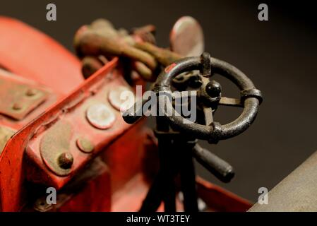 Red vintage model car. - Stock Photo