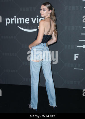 New York City, United States. 10th Sep, 2019. BROOKLYN, NEW YORK CITY, NEW YORK, USA - SEPTEMBER 10: Gigi Hadid arrives at the Savage X Fenty Show Presented By Amazon Prime Video held at Barclays Center on September 10, 2019 in Brooklyn, New York City, New York, United States. (Photo by Xavier Collin/Image Press Agency) Credit: Image Press Agency/Alamy Live News - Stock Photo