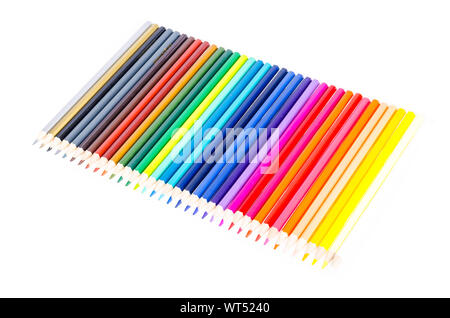 Packing with bright colored pencils for drawing. Studio Photo - Stock Photo
