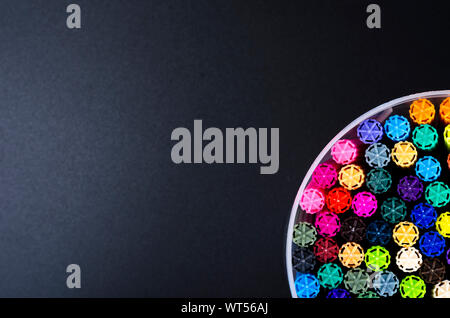 Many colored markers in package. Studio Photo - Stock Photo