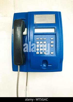 Telephone on the wall. Studio Photo - Stock Photo