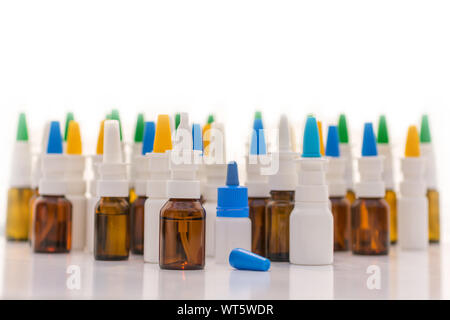 Panorama of the snuff spray as a symbol of habituation effect - Stock Photo