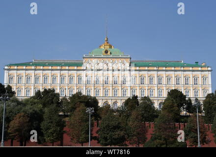 Moscow, Russia. 11th Sep, 2019. MOSCOW, RUSSIA - SEPTEMBER 11, 2019: A view of the Moscow Kremlin. Sergei Karpukhin/TASS Credit: ITAR-TASS News Agency/Alamy Live News - Stock Photo