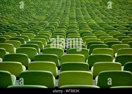 Rows Of Green Chairs - Stock Photo