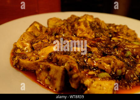 Mapo Tofu Served In Plate - Stock Photo