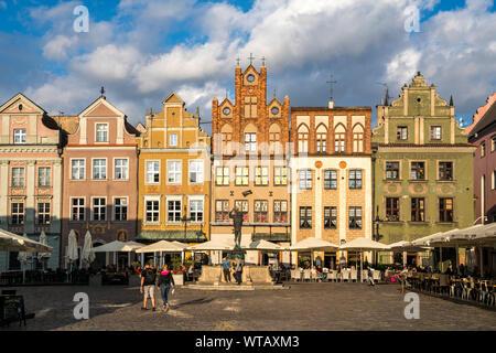 Alter Markt in Posen, Polen, Europa  | Old marketplace,  Poznan, Poland, Europe - Stock Photo