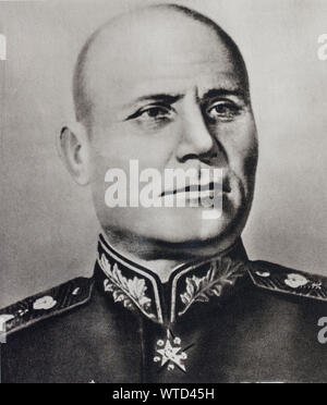 Semyon Timoshenko (1895 – 1970) was a Soviet military commander and Marshal of the Soviet Union. - Stock Photo