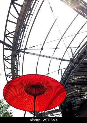 Low Angle View Of Umbrella - Stock Photo