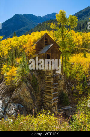 Crystal Mill in Marble - Old power generator mill Aspen area, Colorado September 2018