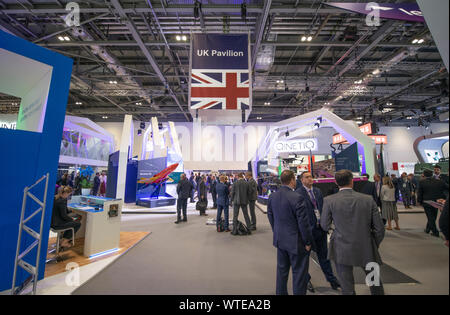 ExCel, London, UK. Defence & Security Equipment International (DSEI) event runs from 10th-13th September 2019, the worlds biggest arms fair. - Stock Photo