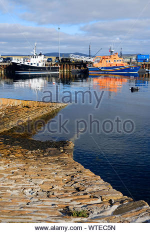 Stromness harbour, Orkney mainland, Scotland - Stock Photo