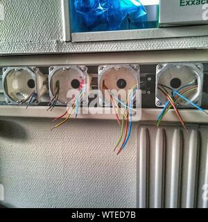 Close-up Of Electric Sockets On The Wall - Stock Photo