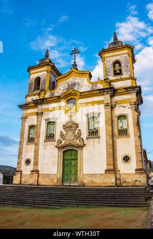 Igreja São Francisco de Assis, St. Francis Assis Church, Mariana, Minas Gerais, Brazil Stock Photo