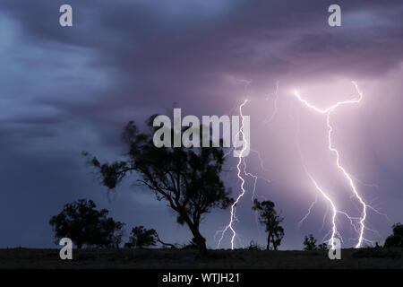 Summer electrical storm,  Victoria, Australia - Stock Photo