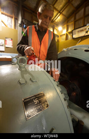Picture by Tim Cuff - 8 May 2019 - Pupu Hydro power generator scheme, Golden Bay, New Zealand: Four Corners - Stock Photo