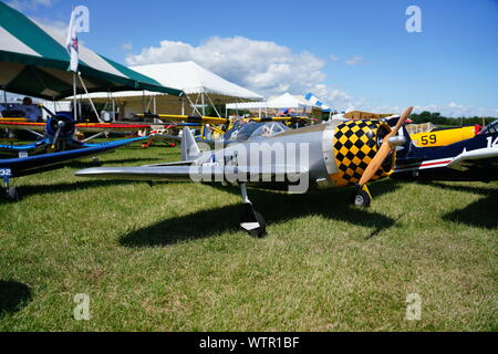 Warbirds and Classics over the Midwest Fond du Lac Wisconsin Remote control Airplane Show - Stock Photo