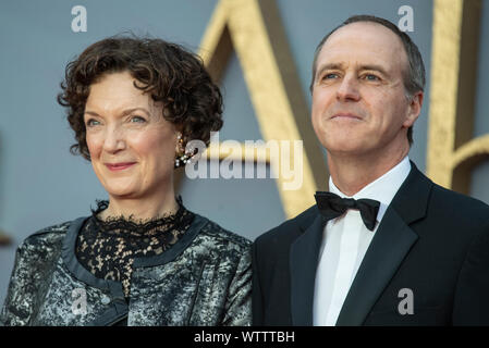 London, UK. 09th Sep, 2019. Olwen May and Kevin Doyle attend the World Premiere Of Downton Abbey at Leicester Square in London. Credit: SOPA Images Limited/Alamy Live News - Stock Photo