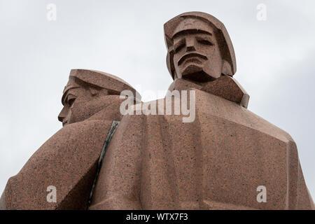 Red Riflemen Statue, Riga, Latvia - Stock Photo