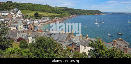 Kingsand, Rame, south east Cornwall seen from above - Stock Photo