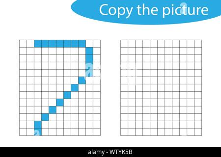 drawing games on paper Copy The Picture Pixel Art Number 2 Cartoon Drawing