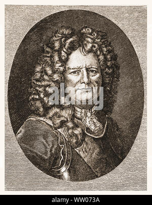 Sebastien Le Prestre de Vauban French military engineer and Marshal of France during the reign of Louis XIV - Stock Photo