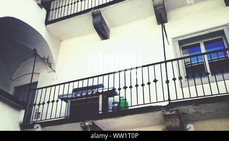 Low Angle View Of Balcony At Residential Building