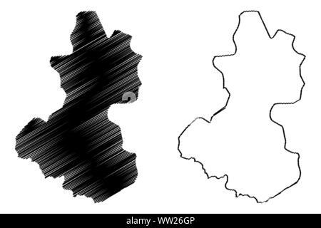 Lempira Department (Republic of Honduras, Departments of Honduras) map vector illustration, scribble sketch Lempira map - Stock Photo