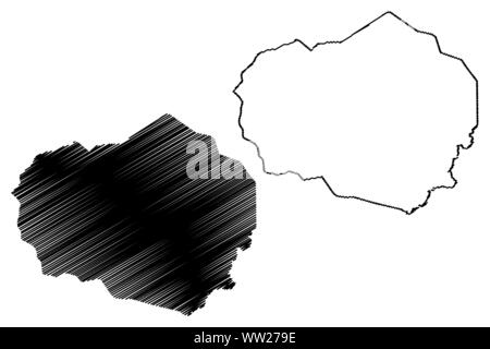 Olancho Department (Republic of Honduras, Departments of Honduras) map vector illustration, scribble sketch Olancho map - Stock Photo