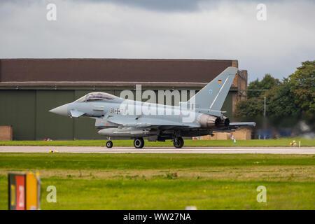 Exercise Cobra Warrior 2019 - Aircraft depart RAF Waddington, Lincolnshire, on exercise -  September 11th 2019 - Stock Photo