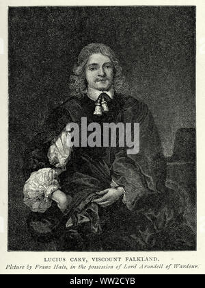 Lucius Cary, 2nd Viscount Falkland (c. 1610 – 20 September 1643) was an English author and politician who sat in the House of Commons from 1640 to 1642. He fought on the Royalist side in the English Civil War - Stock Photo