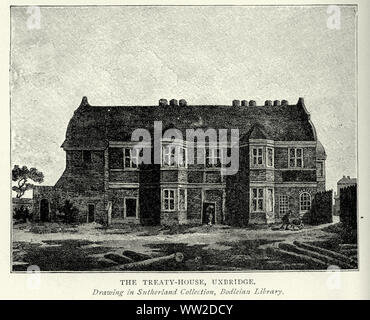 Treaty House, Uxbridge. The Crown and Treaty was a pub on Oxford Road in Uxbridge, London, England, where Charles I and his Parliamentary opponents during the English Civil War held negotiations (the Treaty of Uxbridge) between 30 January and 22 February 1645 - Stock Photo