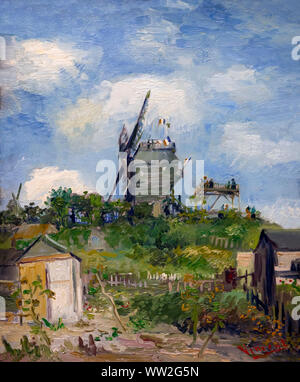 The Blute-Fin Windmill, Montmartre, Vincent van Gogh, 1886, Stock Photo