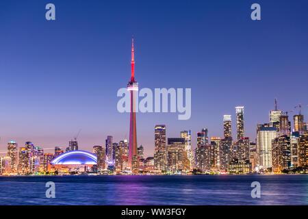 Toronto city view and skyline at night, Ontario, Canada