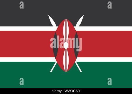 Flag of Kenya .Kenya vector flag. National symbol of Kenya - Stock Photo