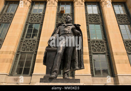 Millard Fillmore statue in front of Buffalo New York city hall - Stock Photo