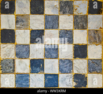 Black and white checkerboard pattern floor background. - Stock Photo