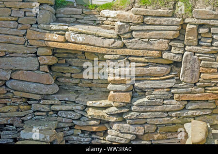Skara Brae Neolitchic settlement  more than 5,000 years old is the best preserved Stone Age Neolithic village in northern Europe, Orkney, Scotland - Stock Photo