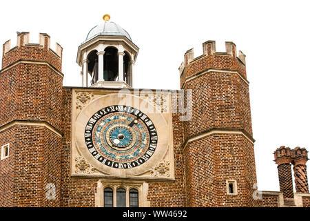 Hampton Court Palace Astronomical Clock - Stock Photo
