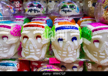 Sugar Skull Decorations for Day of the Dead Holiday - Stock Photo