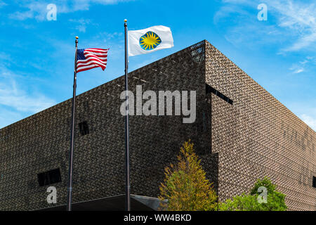 WASHINGTON, DC - JULY 12, 2017:  The National Museum of African American History and Culture, a Smithsonian Institution museum. - Stock Photo
