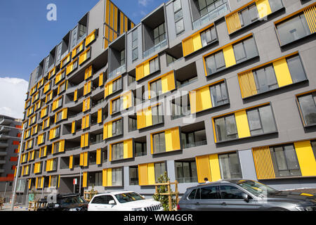 High rise residential units and apartments newly built in  Ryde in Sydney,New South Wales,Australia