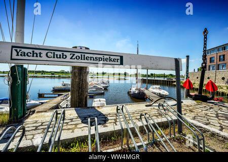 Yacht club Zollenspieker in Kirchwerder, Hamburg, Germany, Europe - Stock Photo