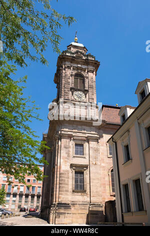 Church St. Egidien or Egidien church, Sebald old town, Nuremberg, Central Franconia, Franconia, Bavaria, Germany - Stock Photo