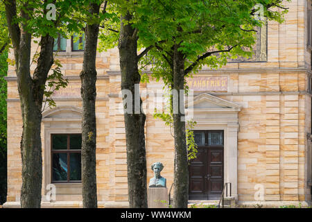 Villa Wahnfried, Richard Wagner museum, Bayreuth, Upper Franconia, Franconia, Bavaria, Germany - Stock Photo