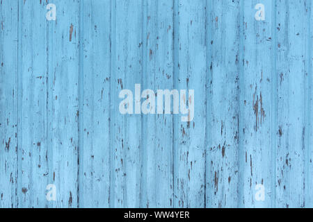 Light blue weathered wooden wall - Stock Photo